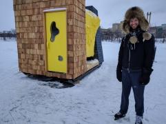 (2017) Warmhut- an actual warm hut designed as a sauna.
