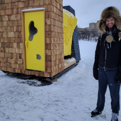 (2017) Warmhut- an actual warm hut designed as a sauna.